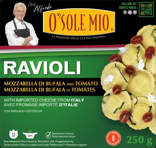 RAVIOLI CAPRESE MOZZARELLA DI BUFALA AND TOMATO