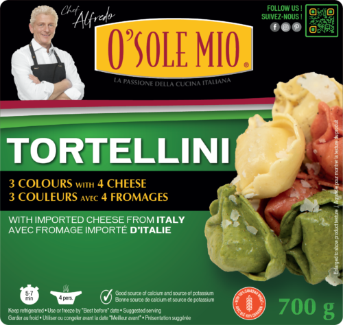 TORTELLINI 3 COLOURS with 4 CHEESE